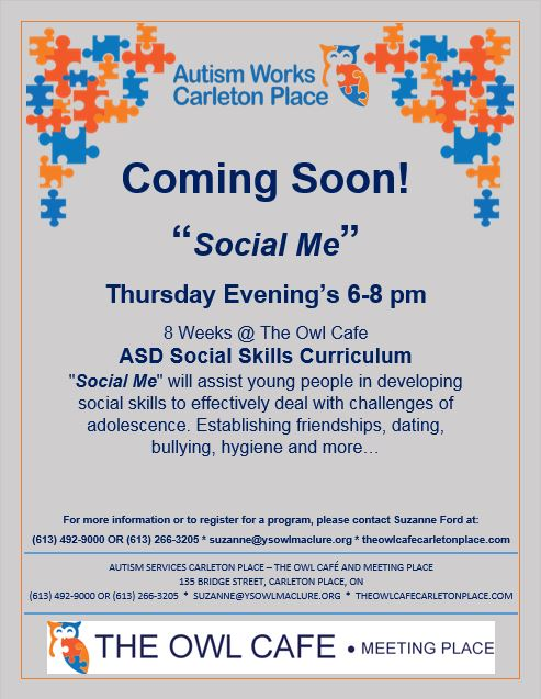 Autism Works Carleton Place - Social Me ASD Program